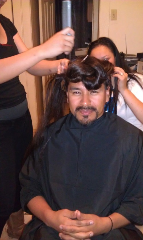 Getting_my_hair_done