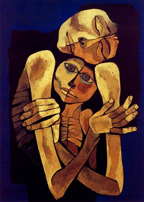 Madre e Hijo---Oswaldo Guayasamin