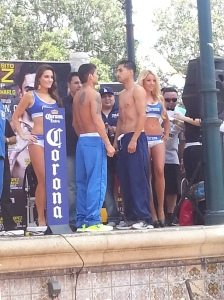 Maidana vs Lopez Stare Down