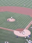 Reggie Smith throwing out the First Pitch