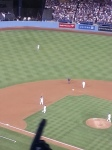 Hanley catching the final out