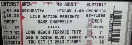 Dave Chappelle at Long Beach Terrace Theatre