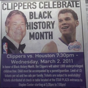 Donald Sterling Black History Month