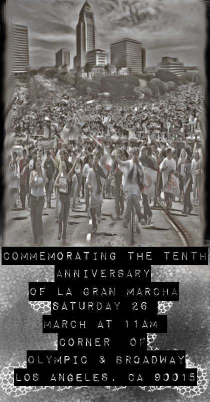 Commemorating La Gran Marcha Flyer